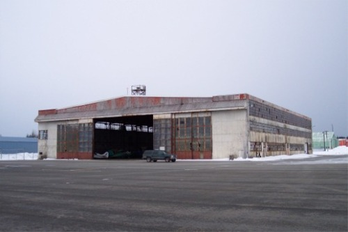 The Hangar,  in all her unrenovated and neglected glory