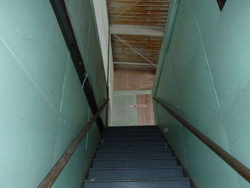 Looking up the stairs - the only spot with no rot!
