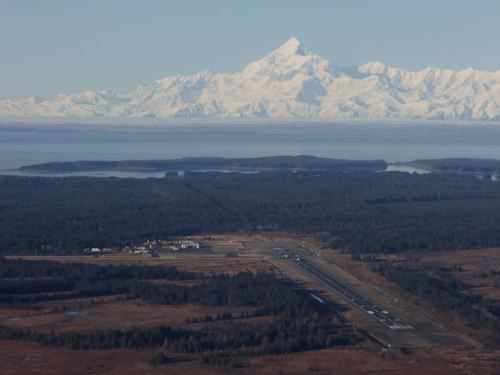 The Yakutat airport on a sunny day