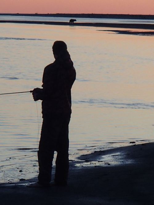 Time for the other fishermen to come out and work