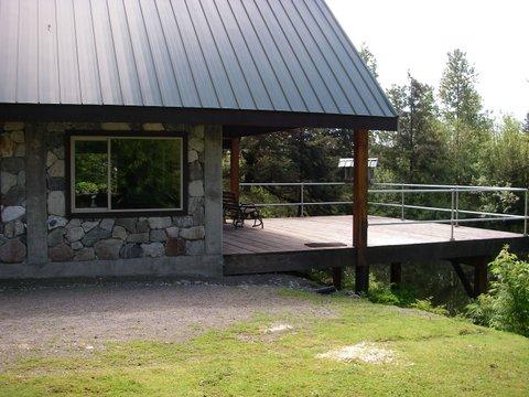 Spacious decks and balconies overlook the lake