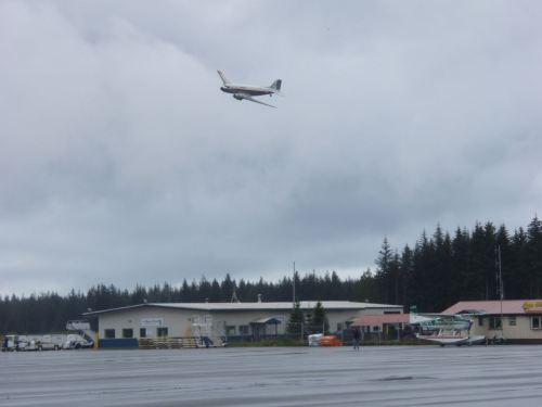 The last time she flew - with Rod at the controls over the Yakutat airport