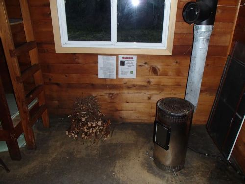 What's wrong with this picture?  Wood drying for the OIL stove...