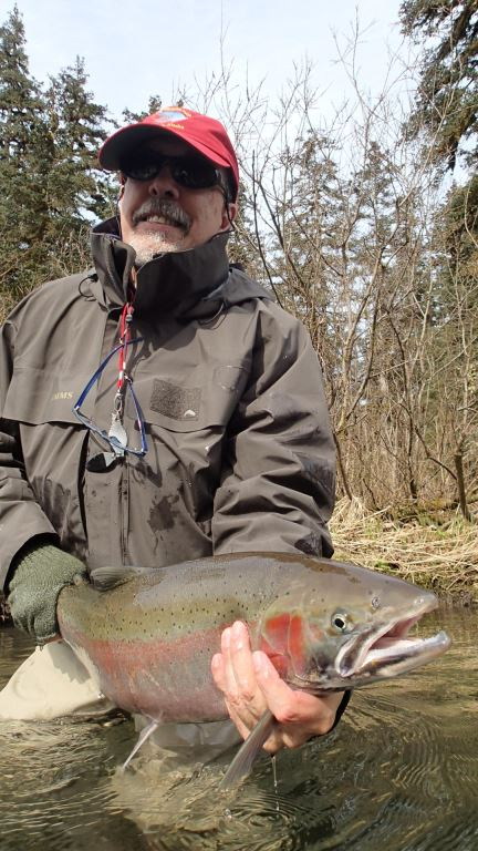 Looks like more blushed winter fish upstream than spring fish - as you'd expect