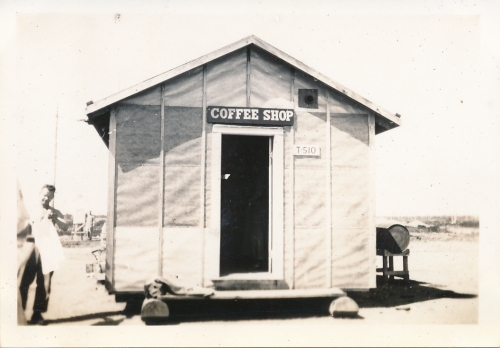 The coffee shop,  where Leo's Vehicles is now...