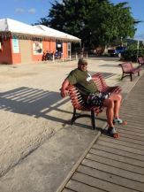 Taking a rest at the dock in Vaitape